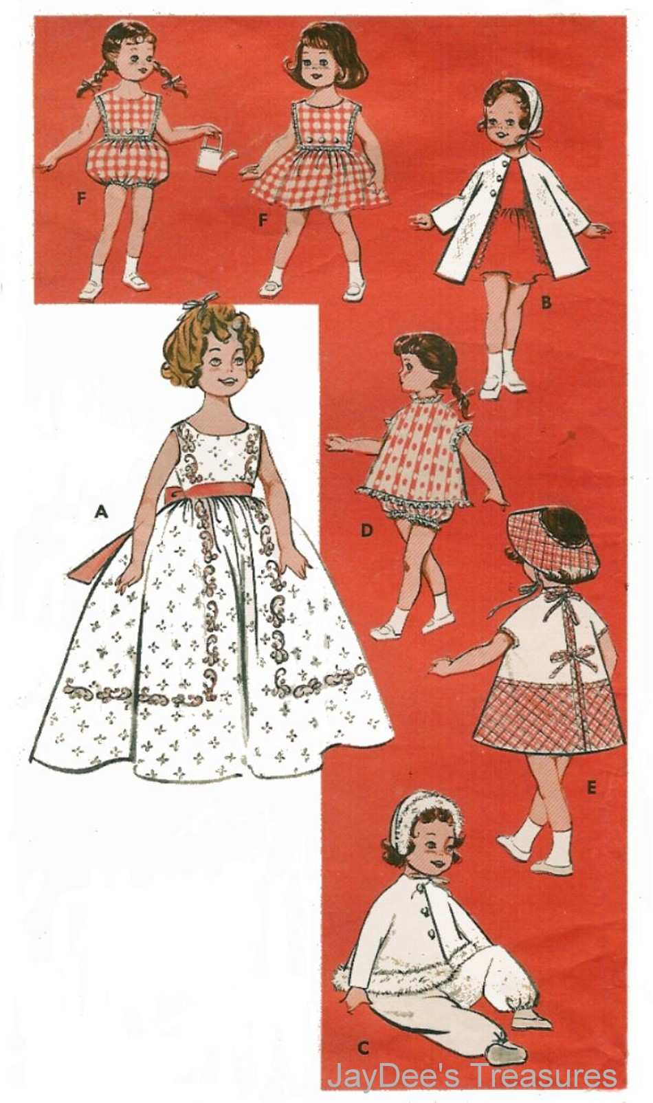 9186 vintage doll clothes pattern shirley 8 inch ebay