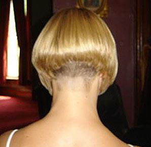 Short Angled Bob Haircut Back View