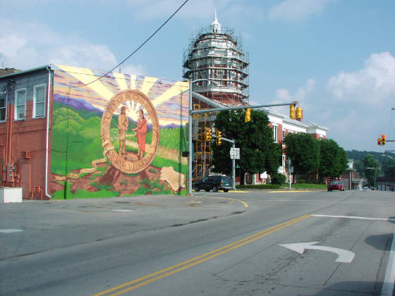 New From Start To Finish Buckhannon City Seal Mural