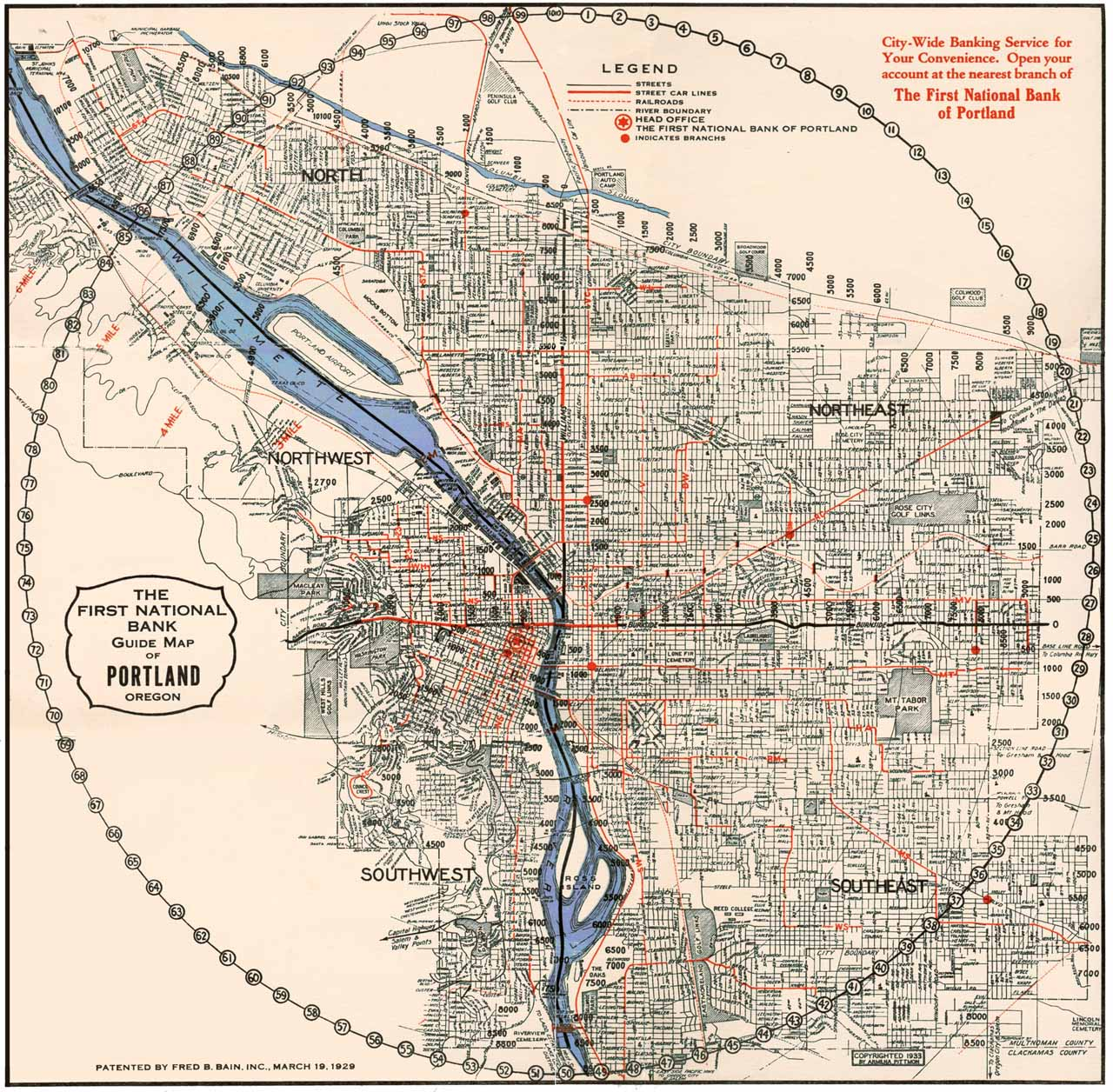 Street Railway Map of Portland (1904)